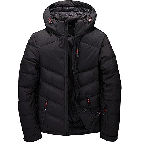 [LZL] ダウンジャケットメンズ ダウンコート大きいサイズビジネス防寒ショート丈 軽量down jacketダークダ...