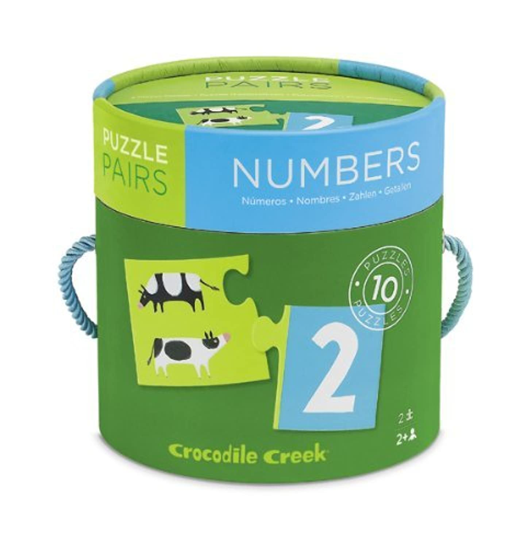 【CROCODILE CREEK】数学習用★NUMBERS(数)puzzle pairs / 10種類 ベビー用【並行輸入品】