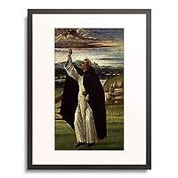 サンドロ・ボッティチェリ Sandro Botticelli 「Der predigende hl.Dominikus. Um 1495.」 額装アート作品
