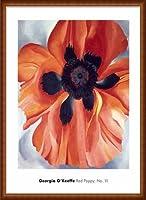ポスター ジョージア オキーフ Red Poppy No. VI 1928 額装品 ウッドハイグレードフレーム(ナチュラル)