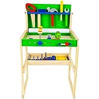 大工さんセット 豪華な工具セット ねじ遊び エンジニアになる おままごと 木のおもちゃ 工具箱 ツール 組み立て 男の子のおもちゃ キッズ用 子供のおもちゃ 知育玩具 誕生日 クリスマス プレゼント