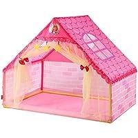 子供の遊びのテントのトンネルの赤ちゃん遊ぶ家の屋内遊園地DIYのプラスチックおもちゃの部屋 (Color : Pink, Size : 133 * 90.5 * 106cm)