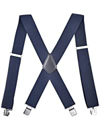 Xiang Ru サスペンダー メンズ 無地 オシャレ プレゼント カジュアル 調節可能 X型 弾性 ズボンつり つりバンド 人気