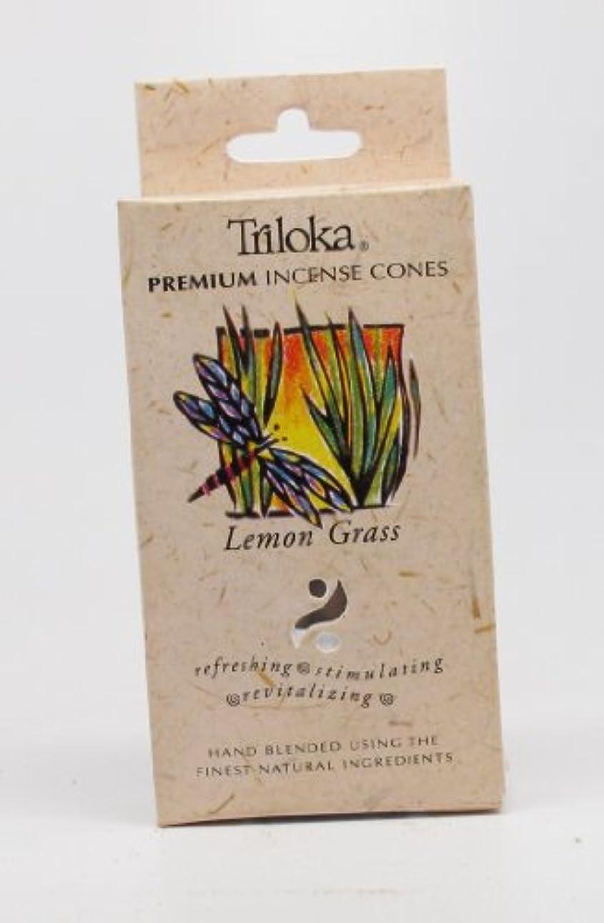 原始的なスラム街地域のレモングラス – TrilokaプレミアムCone Incense