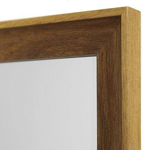 ウォールミラー 壁掛け アンティーク調 姿見 全身鏡 幅30×高さ120cm ナチュラル × ブラウン W123N-NABR