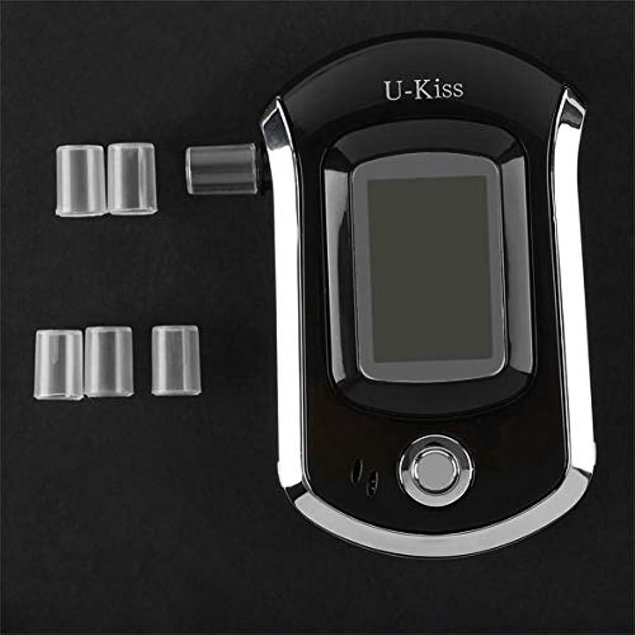 不利真剣に単調なU-KissプロフェッショナルLCDスクリーンディスプレイアルコールテスターデジタルアルコール検出器高感度呼気分析器