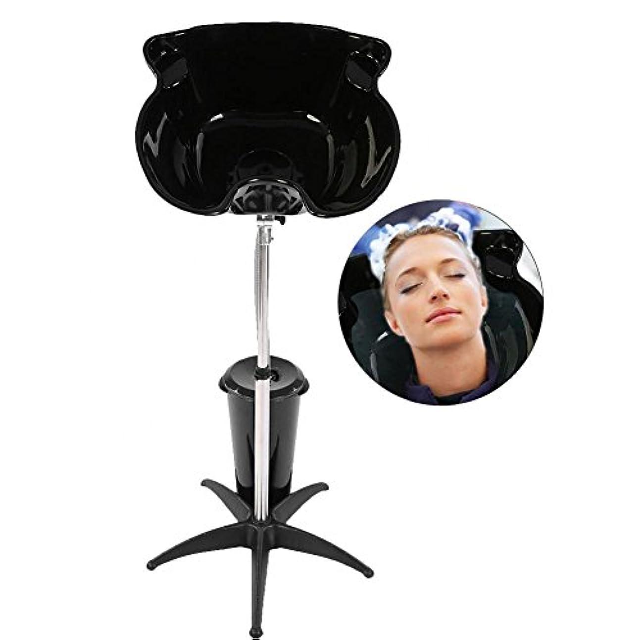 病者シットコムボーナス水切り付き洗面器、高さ調節可能ステンレススチール理髪店のシンク