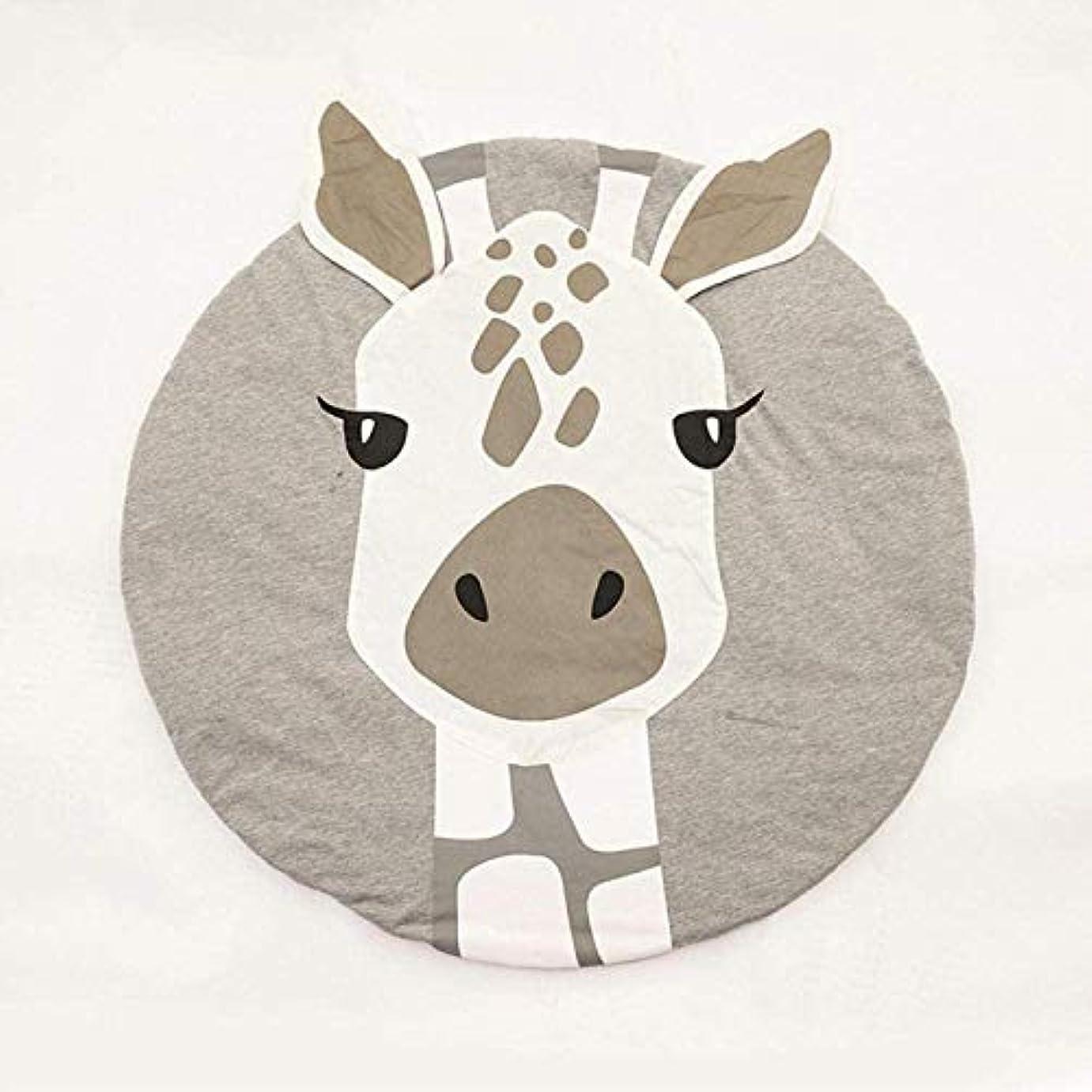 脱走自分のアンデス山脈赤ちゃんフィットネスPlaymat、赤ちゃんはプレイがソフト暖かい厚手の変更スリーピングクロールにクロールマット、100%天然素材のベビーマットを印刷します nyfcck (Color : Giraffe)