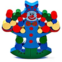 DreamsEden バランス 積み木 ブロック 木製 教育玩具 カラーボックス付き ストレージバッグ 3~6歳の子供用