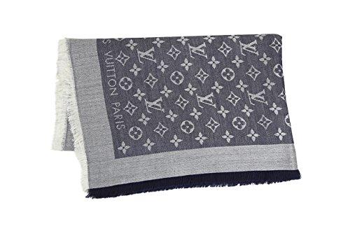 (デニムブルー) ルイ・ヴィトン/LOUIS VUITTON モノグラム/ショール ストール スカーフ [並行輸入品]