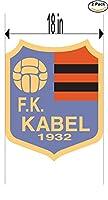 KabelユーゴスラビアサッカーフットボールクラブFC 2ステッカー車バンパーウィンドウステッカーデカール大18インチ