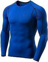 (テスラ) TESLA メンズ オールシーズン 長袖 ラウンドネック スポーツシャツ [UVカット・吸汗速乾] MUD