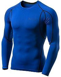 (テスラ)TESLA オールシーズン 長袖 ラウンドネック スポーツシャツ [UVカット・吸汗速乾] コンプレッションウェア パワーストレッチ アンダーウェア R11   MUD01   MUD11