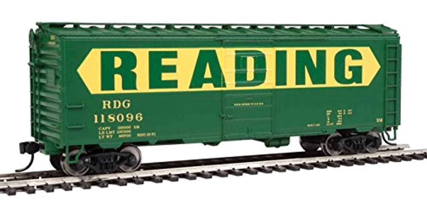 Walthers HOスケール40 ' ps-1 Boxcar Reading (グリーン/イエロー/ Large名) # 118096