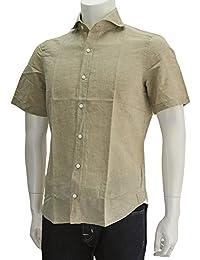 (フィナモレ) finamore SERGIO セルジオ メンズ 半袖シャツ ベージュ系 [並行輸入品]