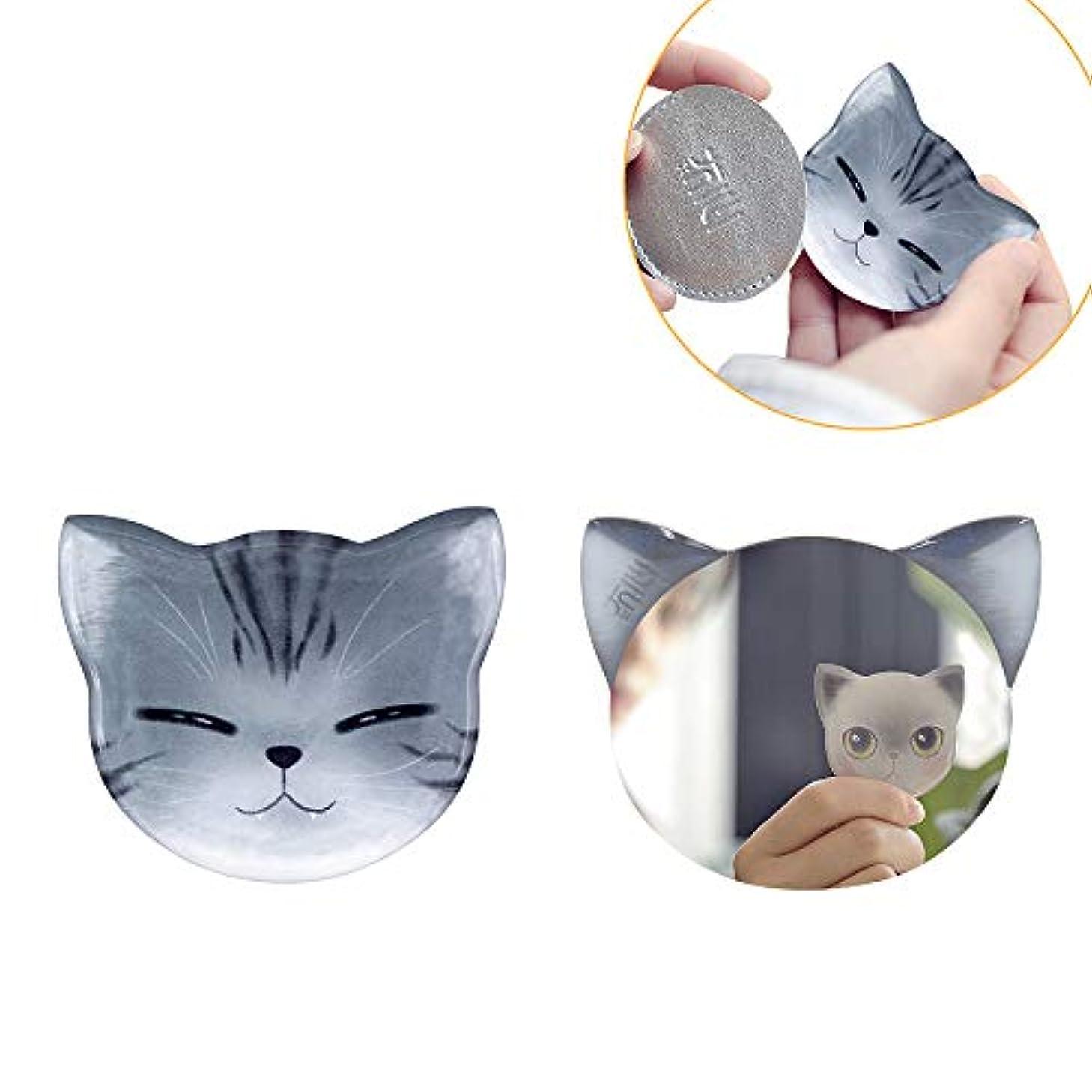 ユーモラスプロトタイプばか手鏡 コンパクト iitrust 猫柄 8パタン 収納袋付き 割れない 鏡 おしゃれ コンパクトミラー ハンドミラー かわいい 手鏡 猫 手鏡 かわいい iitrust並行輸入品