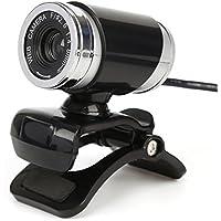 webカメラ USB 2.0ウェブカメラ滑らかなウェブ会議ビデオ会話PCカメラ・マイク内蔵 skype用 銀・ブルー・黒 【日本語説明書付き・12ヶ月保証】