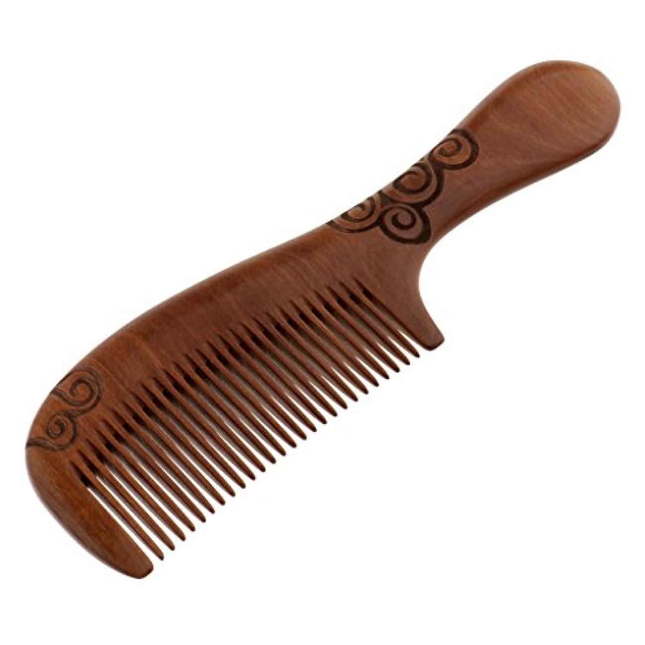 ハブブグレーぼかすToygogo くし コーム 木製 頭皮マッサージ ヘア櫛 木製ヘアコーム ヘアケア 髪の櫛 帯電防止 耐熱性