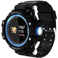 メンズスポーツスマートウォッチIP68防水心拍数血圧計監視多機能歩数計腕時計Bluetoothの時計活動計睡眠モニタリングトラッカースマートLineリマインダーウォッチiphone iosとAndroidスマートフォン