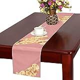 GGSXD テーブルランナー すばやい ゴールデンレトリーバー クロス 食卓カバー 麻綿製 欧米 おしゃれ 16 Inch X 72 Inch (40cm X 182cm) キッチン ダイニング ホーム デコレーション モダン リビング 洗える