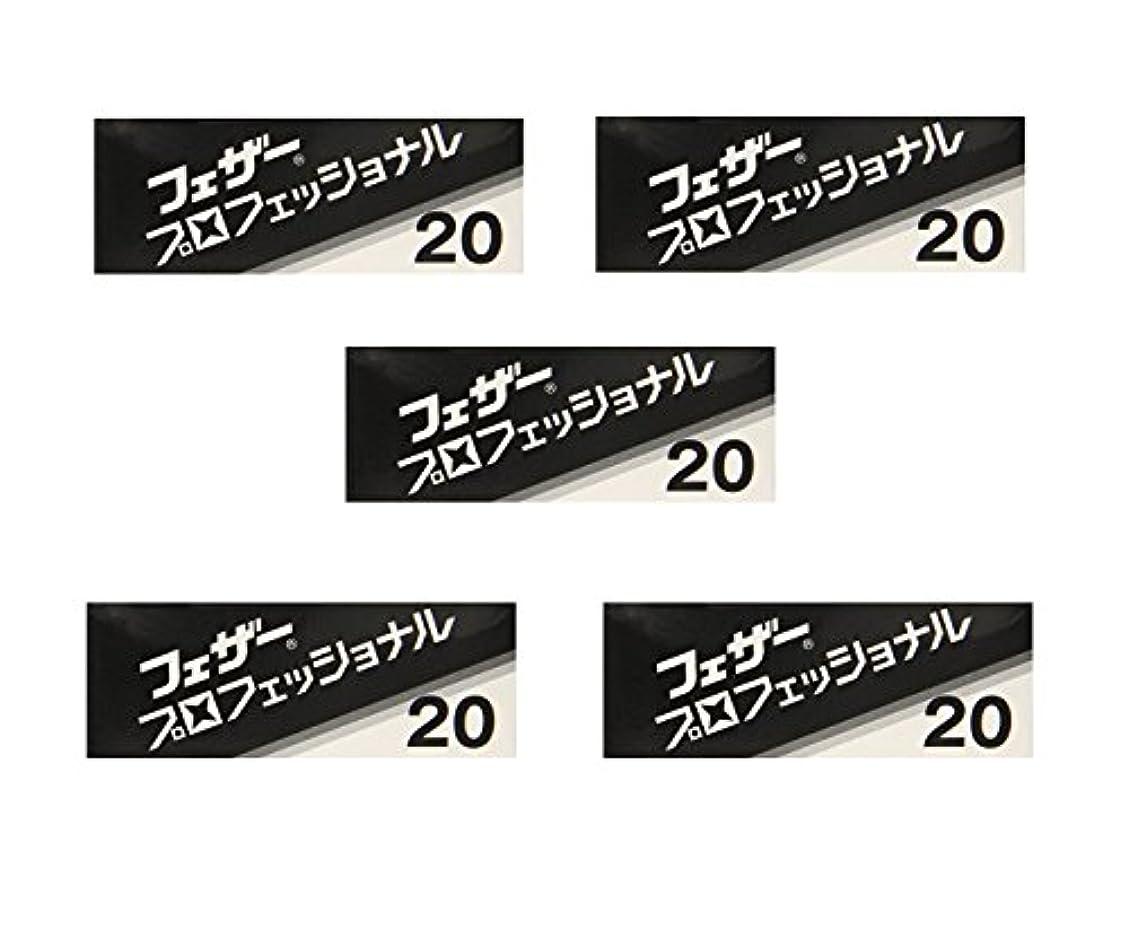 確立慰めノート【5個セット】フェザープロフェッショナルブレイド 20枚入 PB-20