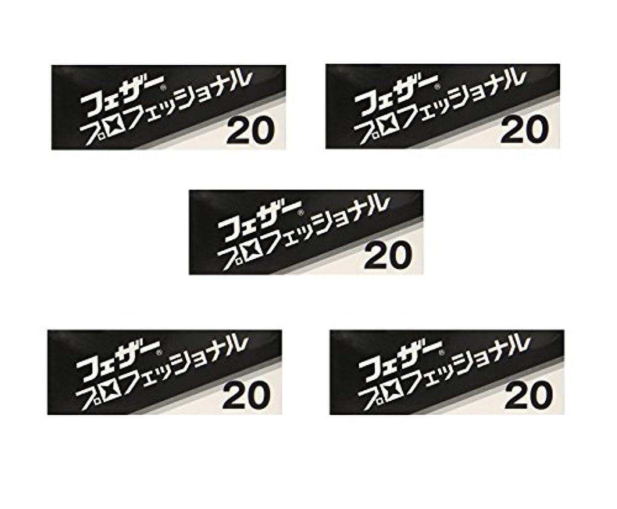 強いプラグ有益【5個セット】フェザープロフェッショナルブレイド 20枚入 PB-20