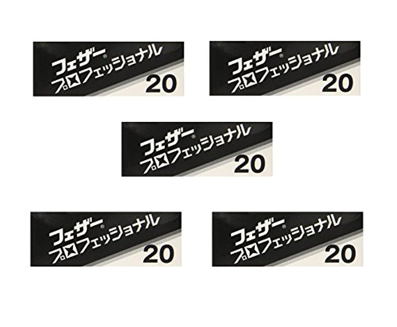 ユーザーオークション読む【5個セット】フェザープロフェッショナルブレイド 20枚入 PB-20