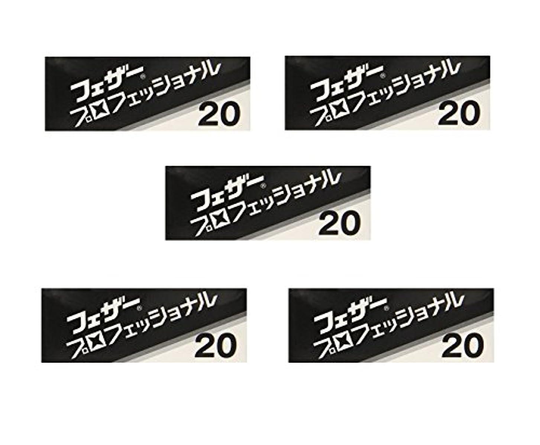 ずっとキャンプ対称【5個セット】フェザープロフェッショナルブレイド 20枚入 PB-20