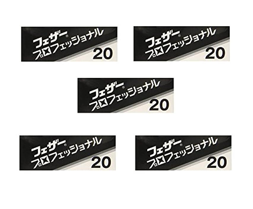 名目上の受け継ぐマルクス主義者【5個セット】フェザープロフェッショナルブレイド 20枚入 PB-20