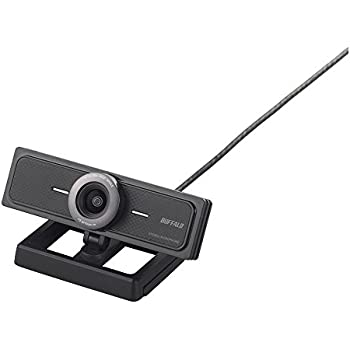 BUFFALO 200万画素WEBカメラ 広角120°マイク内蔵 ブラック BSW200MBK