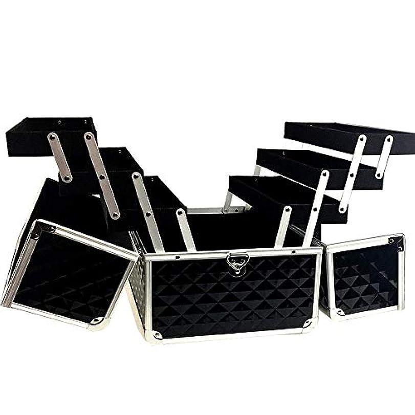 故意にネクタイピアノを弾く特大スペース収納ビューティーボックス 美の構造のためそしてジッパーおよび折る皿が付いている女の子の女性旅行そして毎日の貯蔵のための高容量の携帯用化粧品袋 化粧品化粧台