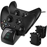 Xbox One Controller Dual Charger InLife Controller Charging Stand Elite Controller Charging Station High Speed Docking for Xbox One /One S /One X /Xbox with 2 x 1200 mAh Rechargeable Battery Packs