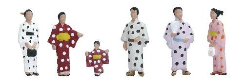 Nゲージ 24-248 (N)人形 和服の人々2・浴衣
