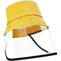 EXTSUD Dustproof Sunhat Cotton Packable Sun Hats Dust Proof Suitable for Kids 49-51cm Yellow