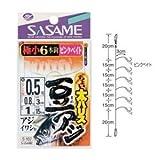 ささめ針(SASAME) ちょい太豆アジ ピンクベイト S-107 針0.8号 ハリス0.8号
