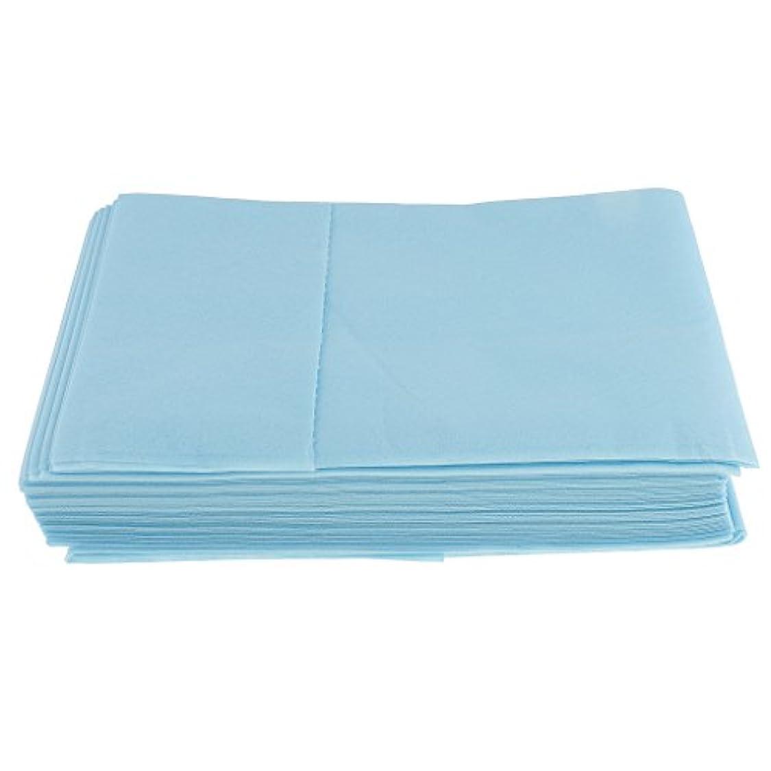 床アイスクリーム海嶺10枚入り 使い捨て 美容室/マッサージ/サロン/ホテル ベッドパッド 無織PP 衛生シート 全3色選べ - 青