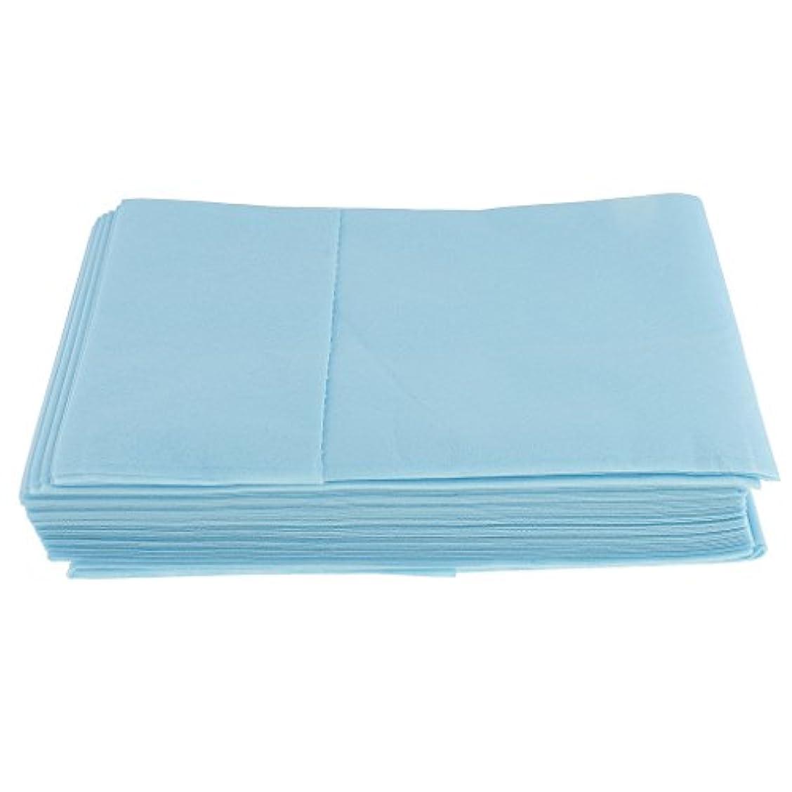 ニンニク遅れディプロマ10枚入り 使い捨て 美容室/マッサージ/サロン/ホテル ベッドパッド 無織PP 衛生シート 全3色選べ - 青