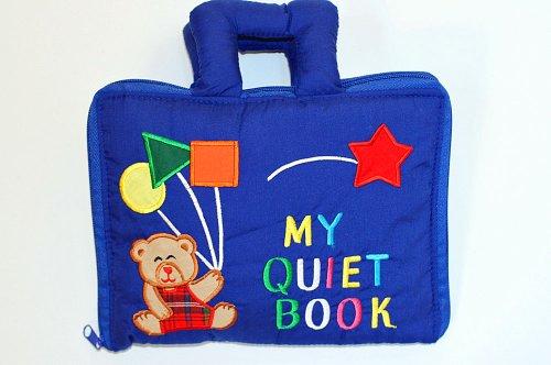 布絵本 MY  QUIET  BOOK NEW ENGLISH VERSION  マイクワイエットブック ブルー ニュー英語刺しゅう 版育