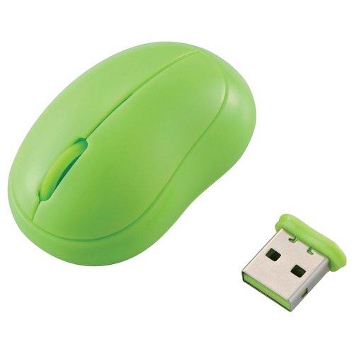 ELECOM 極小 無線レーザーマウス baby beans 3ボタン 枝豆 グリーン M-BM1DLGN