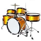 LINGLING-ドラム 子供のドラム楽器演奏ジャズドラム上級初心者ドラムパーカッション環境 (Color : 黄)