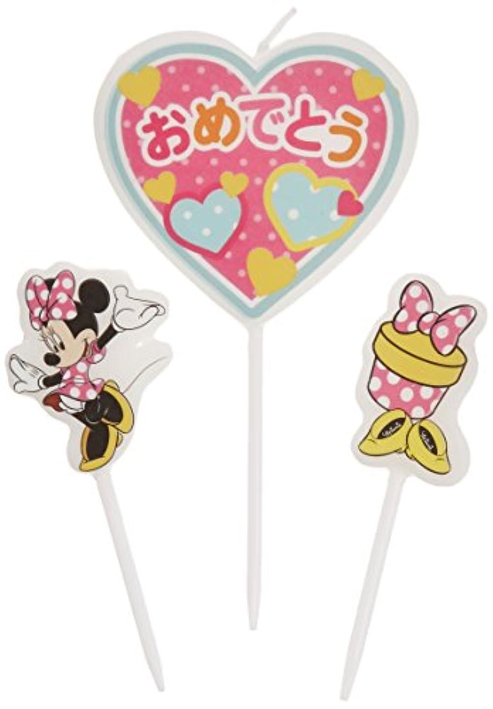 文字コイン何かディズニーパーティーキャンドル【ケーキ用キャンドル】 「 ミニー 」