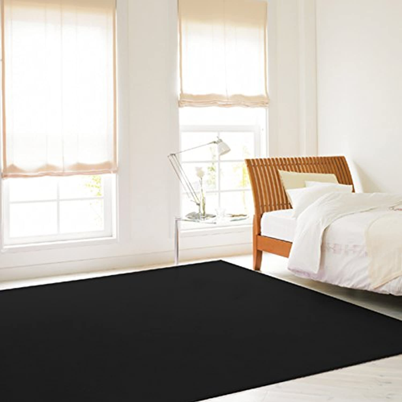黒色(ブラック)カーペット bk900-3(Y)(ホットカーペット対応) 3畳 三畳 3帖 約176×261cm 黒 black クロ くろ 漆黒