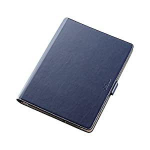 エレコム iPad 9.7 ケース レザーケース 手帳型 ソフトレザー 360度回転 ブルー TB-A16360BU