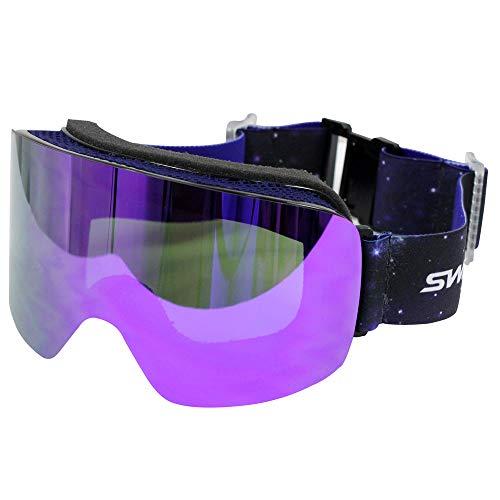 SWANS(スワンズ)スキー スノーボード スノーゴーグル フレームレス ダブルミラーレンズ 120MDH GLBK F