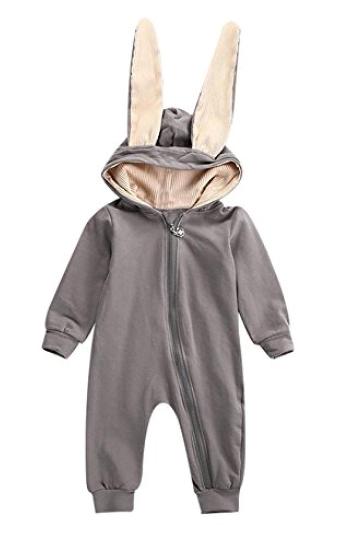 mioim かわいい ベビー服 長袖 赤ちゃん 着ぐるみ カバーオール ウサギ ロンパース 女の子 男の子 出産祝い プレゼント