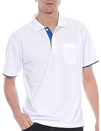 ティーシャツドットエスティー ポロシャツ ドライ 半袖 レイヤード ポケット付き UVカット 4.4oz メンズ