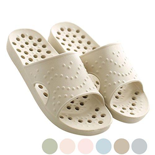 Mianshe 超軽量 シャワー サンダル スリッパ 抗菌衛生 レディース メンズ 歩きやすい 滑り止め カーキ L