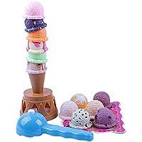 B Blesiya ままごと 玩具 アイスクリーム 異なるフレーバー 親子ゲーム 交流 多色 プラスチック 2個セット