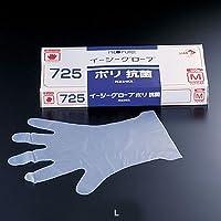 オカモト イージーグローブ ポリ 抗菌手袋 No.725(ポリエチレン製抗菌剤入) L(100枚入) 全長29cm