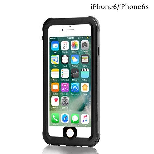Merit iPhone6/6S 防水ケース アイフォン6 防水ケース 車載 磁力吸着 IP68 防塵 防雪 耐衝撃 (6&6S 黒)